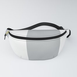 Silver and Gray Wide Vertical Stripes Two Fanny Pack