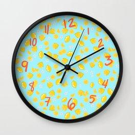 Lemons citrons Wall Clock