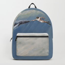 The Creation of Adam the Whale Backpack