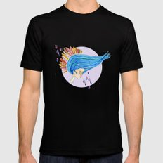 Blu Mens Fitted Tee Black SMALL