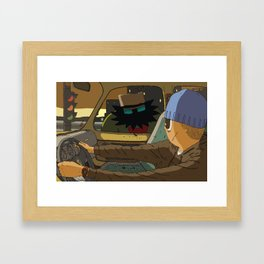 Carjack Framed Art Print
