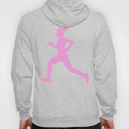 Running Girl Pastel Pattern Hoody