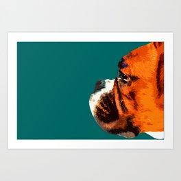 Boxer. Pop art style dog portrait Art Print