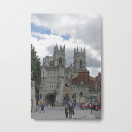 York Minster and Bootham Bar Metal Print
