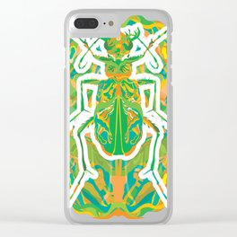 Tiger Beetle _ psychedelic bug 2.0 Clear iPhone Case
