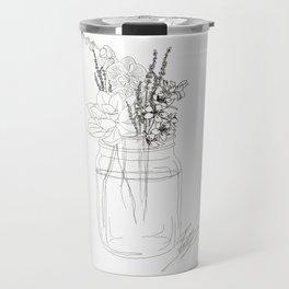 Succulents like to Cuddle Travel Mug