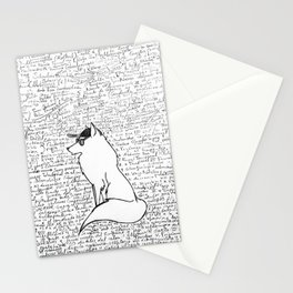 No neuroscience can bring the cool wolf down Stationery Cards