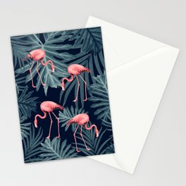 Summer Flamingo Jungle Night Vibes #1 #tropical #decor #art #society6 Stationery Cards