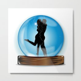 Love In The Crystal Ball Metal Print