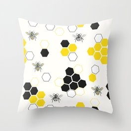 In the Hive Throw Pillow