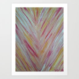 Feather Lines Art Print