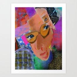 Woman in Pink Art Print