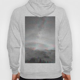 Abstract black and white Northern Lights distorted Hoody