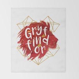 Gryffindor Gold Splatter Throw Blanket