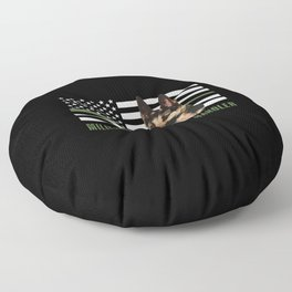 Military Working Dog Handler Floor Pillow