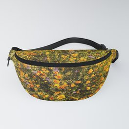 Golden poppies in a field in the California Superbloom Fanny Pack