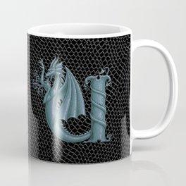 "Dragon Letter U, from ""Dracoserific"", a font full of Dragons Coffee Mug"