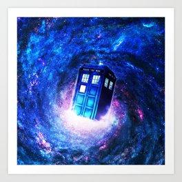 Tardis Doctor Who Vortex Art Print