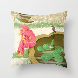 Weeping lady Throw Pillow