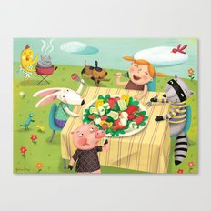 Veggie Grill Out Canvas Print