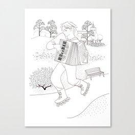the accordeonist Canvas Print