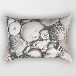 Sea Shell Collection Vintage Style Rectangular Pillow