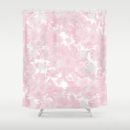 Blush pink watercolor girly floral Shower Curtain