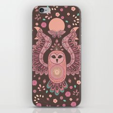 The Owl, The Moon & The Butterfly iPhone & iPod Skin