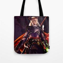 Dragon Age Inquisition - Eva the Qunari warrior Tote Bag