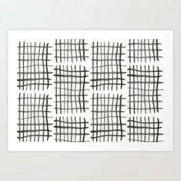 Hashtag, White Art Print