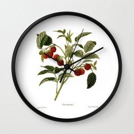 Framboises Wall Clock