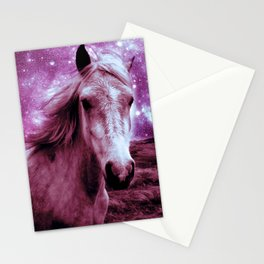 Mauve Horse Celestial Dreams Stationery Cards
