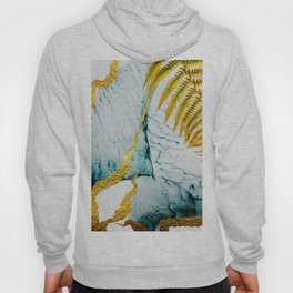 Abstract seamless pattern with tropical leaves. Hand draw texture. Art and Gold illustration Hoody