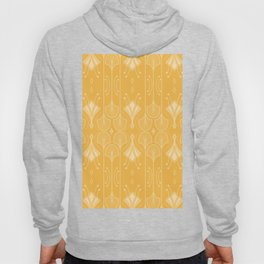 Lily Lake - Retro Floral Pattern Curry Hoody