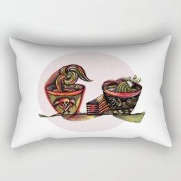 Two Bowls Rectangular Pillow