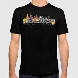 Philadelphia skyline comic T-shirt