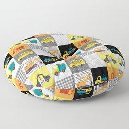 Patchwork Cars Trucks Kids Quilt Pattern Floor Pillow