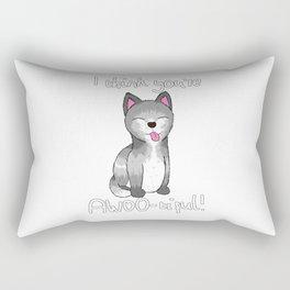 I think you're AWOO-tiful! Rectangular Pillow