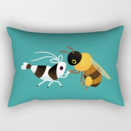 Bee & bee shrimp Rectangular Pillow