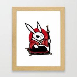 USAGI SAMURAI Framed Art Print