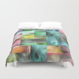 Geometric Clouds and Sky Duvet Cover