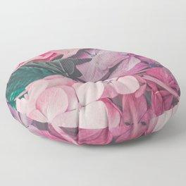 Pastel pink hydrangea Floor Pillow