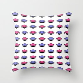 Float Pieces Purple and Pink Throw Pillow