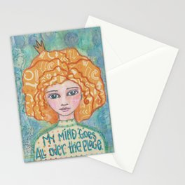 My Mind Goes All Over the Place Stationery Cards