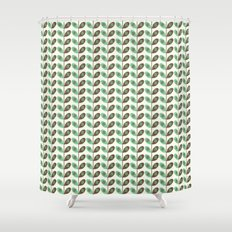 Simply Leaves & Flowers Green & Brown Shower Curtain
