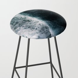 Oceanscape - White and Blue Bar Stool