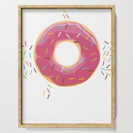 Funny Donut Shirt sweet candy glazed doughnut Serving Tray