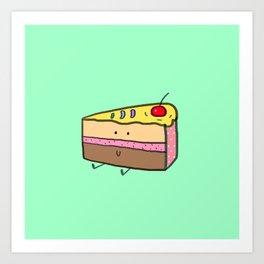 Cake slice Art Print