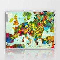 Europe Splatter Map Laptop & iPad Skin