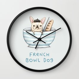 French Bowl Dog Wall Clock